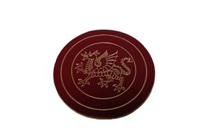 Round 95mm Bonded Leather Coasters